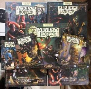 Arkham Horror Board game Collection. All 8 expansions included.