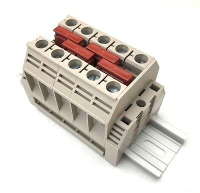 Solar Combiner Box Connector Din Rail Terminal Blocks Dinkle 3awg 100a 600v 5