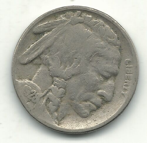A BETTER DATE FINE/VERY FINE 1928 S BUFFALO NICKEL COIN-OLD US COIN-MAR167