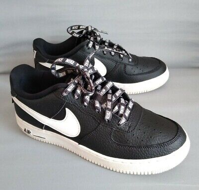 Boys Nike Air Force 1 GS NBA Shoes Black/White 820438-015 Size 5.5y