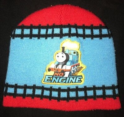 toddler boys WINTER KNIT HAT THOMAS THE TRAIN ENGINE NO 1 red blue CUTE @@ - Toddler Engineer Hat