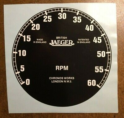 5 inch Reproduction Jaeger RPM Instrument Face.