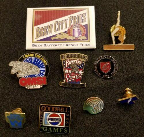 Lot of 9 Brooch & Lapel Pins, Mix of Vintage & Modern, Metal Enamel Plastic (2)