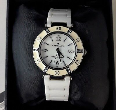 Anne Klein Women's Watch Quartz Crystals Ceramic Porcelain 10/9417