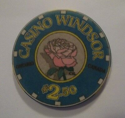 CASINO WINDSOR ONTARIO CANADA SCARCE Snapper Chip 2.50 FIRST ISSUE