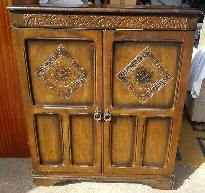 Vintage Old Charm Oak TV Cabinet/Cupboard on Castors for Restoration / Upcycling