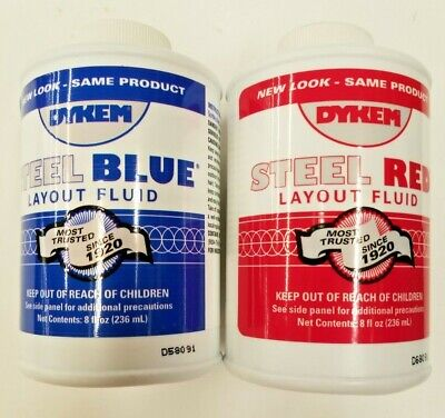 1 Red And 1 Blue 8 Fl.oz. Bottles. Of Dykem Layout Fluid A053