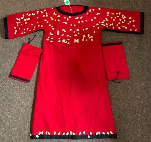 FLATHEAD TRADE CLOTH COWRIE SHELL BEADED WOMANS DRESS
