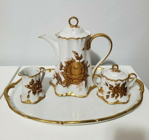 Schumann Arzberg Germany Tea Set -Gold Roses