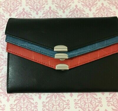 New Samsonite Women Wallet Tri Color Credit Card Organizer ID Card Bond Leather
