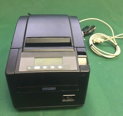 Citizen Ct-s801 Usb Pos Thermal Receipt Printer W Cables Power Supply Works