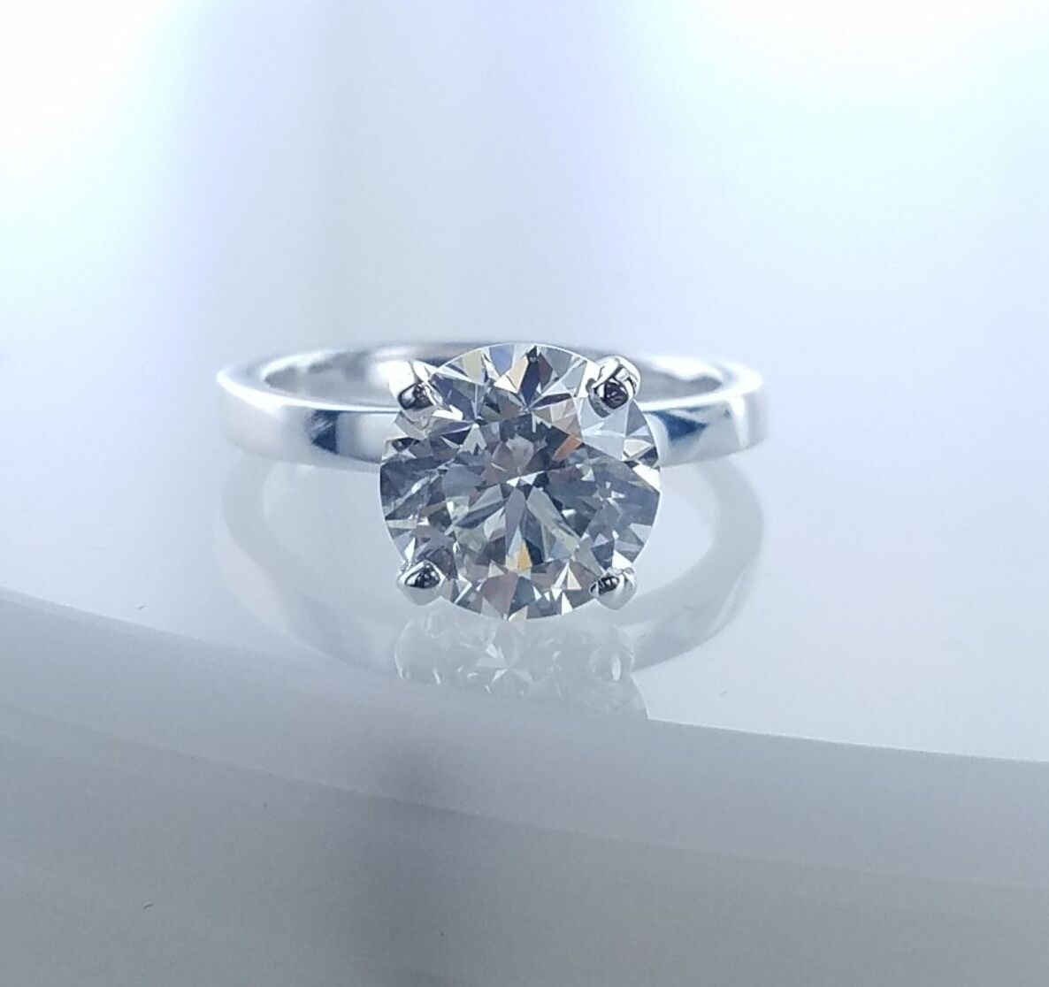 2.72 CT Solitaire Diamond Engagement Ring GIA Certified M-SI1 Ladies Round Cut