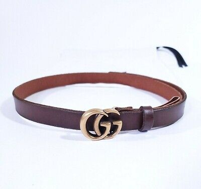 Womens Leather Gucci Belt Brown 80 32