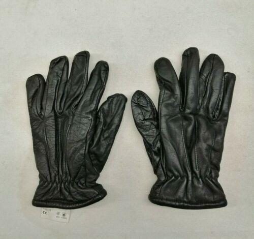 Ex Police Safety Gloves Black Leather Patrol Duty Uniform Security Public Order