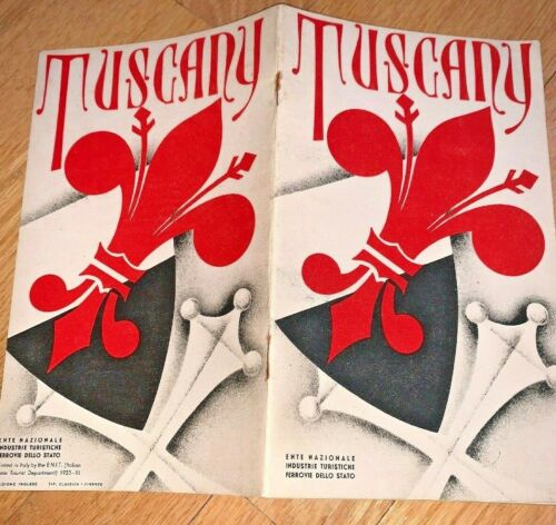 Vintage TUSCANY ITALY Brochure from ITALIAN STATE TOURIST DEPARTMENT