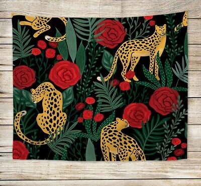 US SELLER, large tapestry wall hangings rose puma jungle wall hanging tapestry (Jungle Wall Tapestry)