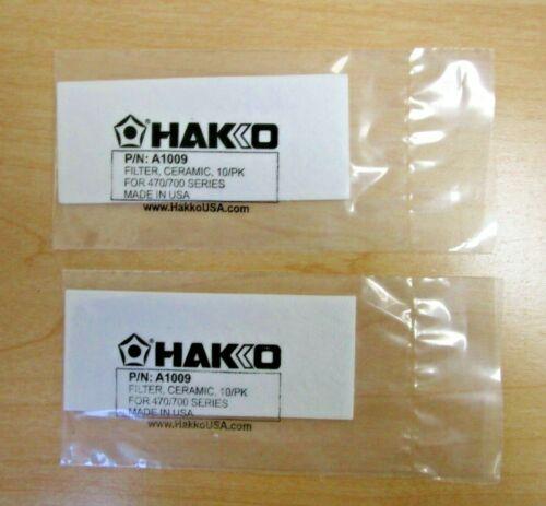 Lot of 2 Hakko  A1009  Ceramic Filter 10/pk        NEW- in sealed bag