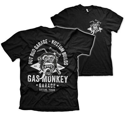Kleidung Rod (Gas Monkey Garage Torch & Hammer GMG Hot Rod Kustom Builds Männer Men T-Shirt)