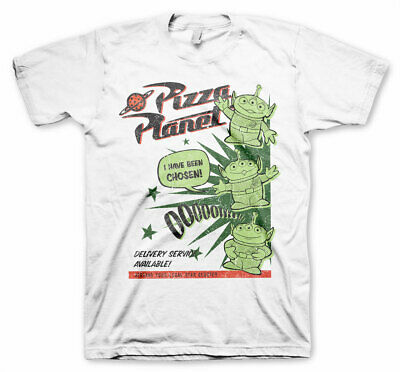 OFFICIAL TOY STORY 4 - PIZZA PLANET ALIENS 'I HAVE BEEN CHOSEN' WHITE T-SHIRT
