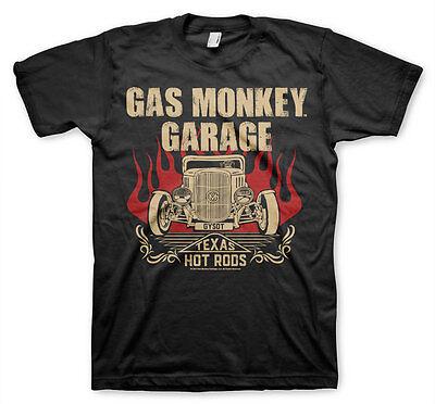 Kleidung Rod (Gas Monkey Garage Speeding Texas Hot Rods Flames Fast N Loud Männer Men T-Shirt)