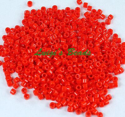 (11/0 Toho Treasures Glass Seed Beads  #45A-Opaque Cherry 5g)