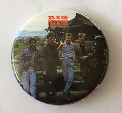 RARE Vintage 1980s BIG COUNTRY band pinback button pin badge new wave 80s in a