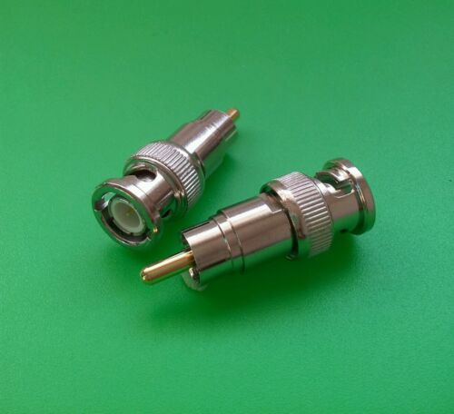 (1 PC) BNC Male to RCA Male Connector - USA Seller