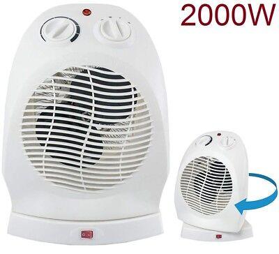 Calefactor de aire radiador estufa oscilante giratorio 2000w ventilador