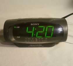 Sony Dream Machine ICF-C490 Dual Alarm AM/FM Alarm Clock Radio Tested