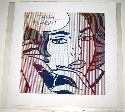 OHHH ALRIGHT LARGE EDITION MR CLEVER ART roy lichtenstein pop brainwash warhol