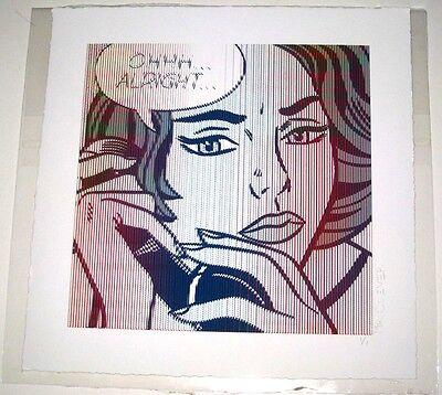 OHHH ALRIGHT MR CLEVER roy lichtenstein pop art signed print brainwash warhol