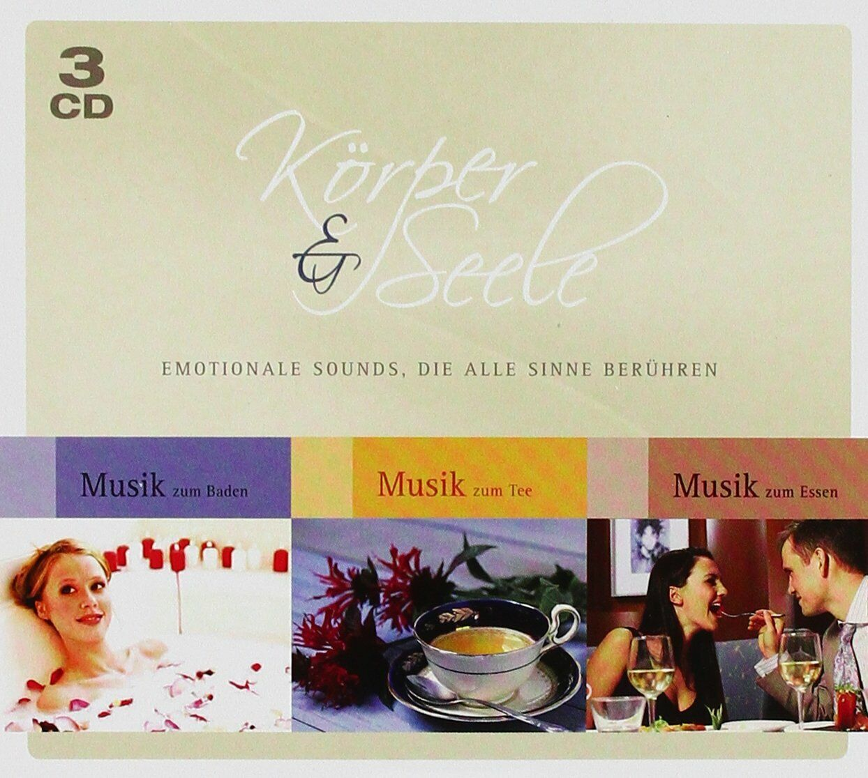 Körper & Seele - NEU 3 Audio CD Box - Musik zum Baden Essen Tee Entspannung