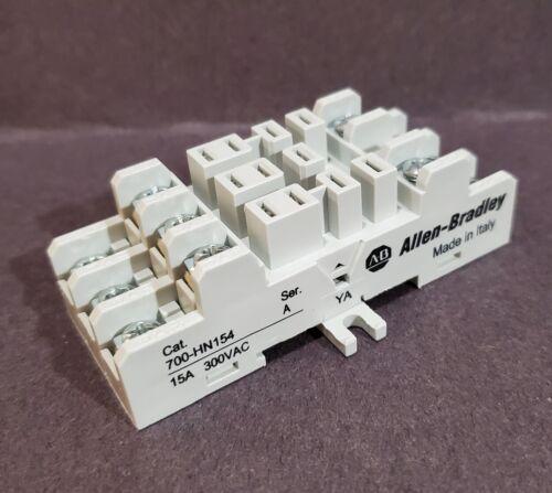 Allen Bradley 700-HN154 11 Pin Blade Type Din Mounted Relay Base New From Pkg