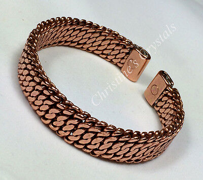 MAGNETIC Solid Copper WOVEN Bracelet - Healing Arthritis Pain Relief ( M5 )