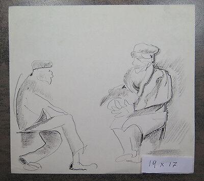 Zeichnung Studio (Zeichnung Antike Comp Studio für Figuren Sitzende Bleistift auf Papier)