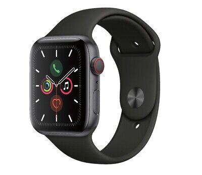 Apple Watch Gen 5 Series 5 Cell 44mm Space Black Aluminum - Black Sport Band