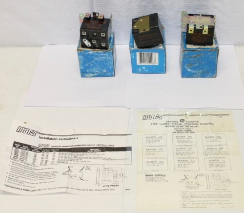 (3) General Electric MARS Potential Relays / 3ARR3 63 - 70 - J4A4 / NEW in BOX