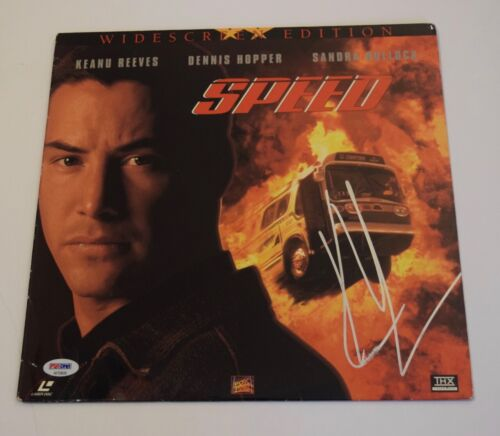 Keanu Reeves Signed Autographed SPEED Laserdisc Album Cover PSA/DNA COA