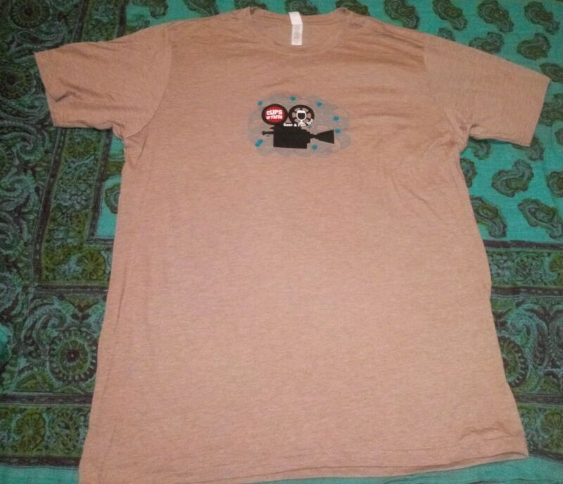 Mens 2XL New Belgium Brewing Clips Of Faith Beer&Film Tour T-Shirt NWOT