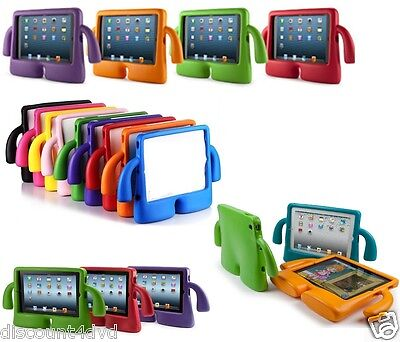 3D kids cute shockproof EVA foam Child Soft Grip stand cover case for iPad 2,3,4 - Soft-grip-stand