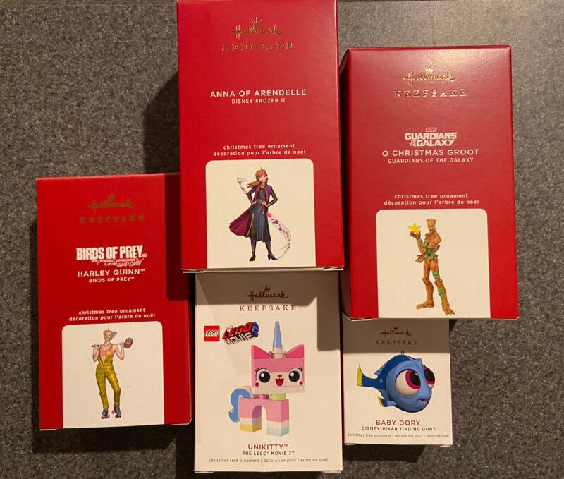 Hallmark Keepsake Baby Dory & Four Additional Ornaments NEW IN BOX