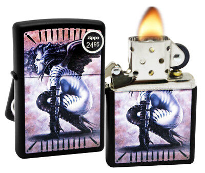 Zippo 29474 Olivia De Berardinis Banshee Black Matte Finish Windproof Lighter