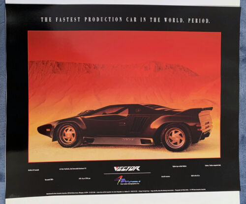 VECTOR ORIGINAL PERIOD POSTER, RARE  LONG SOLD OUT, REDUCED $25