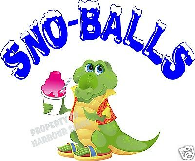 Sno-balls Decal 14 Shaved Ice Snow Cones Concession Trailer Cart Vinyl Sticker
