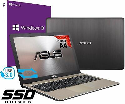 "Notebook Asus Vivobook Portatile 15.6"" AMD A4 2.60Ghz 8Gb Ssd 480GB Win 10 PRO"
