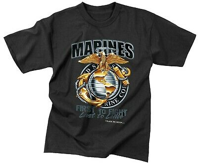 Black Ink Design Marines - t-shirt marines usmc marine corps black first to fight rothco 80280