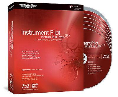 Virtual Test Prep - Instrument Rating by ASA - DVD Blu Ray & Prepware ASA-VTP-I