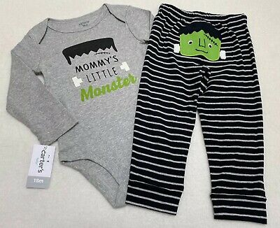 Gymboree Mommys Little Monster Halloween Outfit 18mo Frankenstein Bodysuit Pants Little Monster Pant