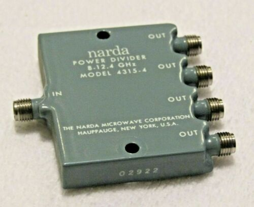 RF Narda Power Divider MODEL 4315-4 8-12.4 GHz