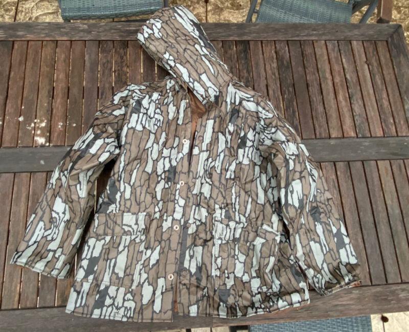 Vintage Trebark Camo Rain Jacket - Medium / Good Condition - duck deer hunt rnt